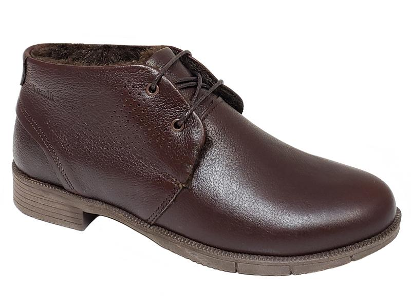 Helsinki Plain Toe Side Brogue Lace-Up Ladies' Ankle Boots