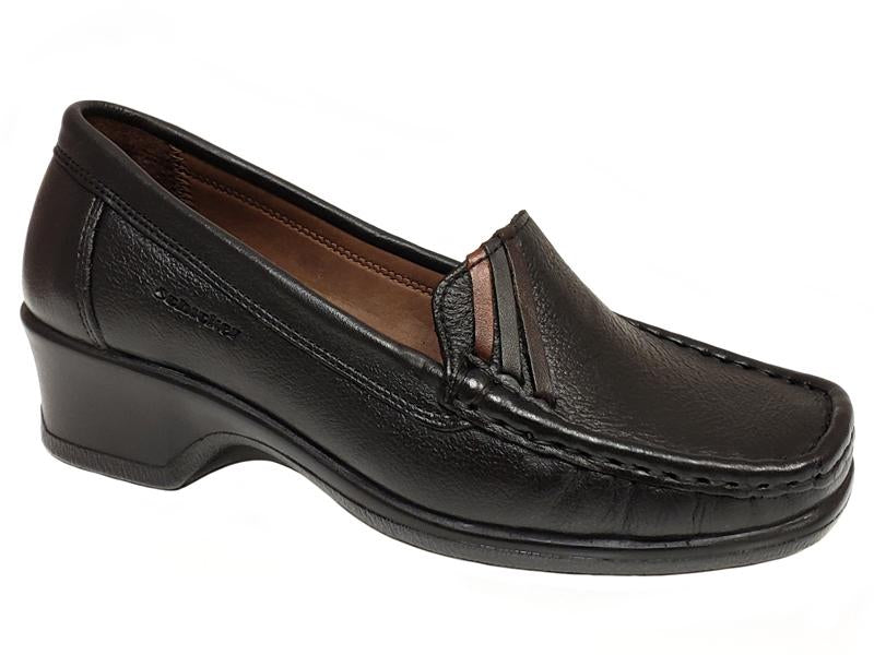 Istanbul Apron Toe Low Chunky Heel Ladies' Dress Shoes