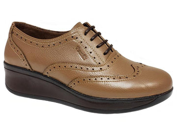 Amsterdam Lace-Up Full Brogue Ladies' Wedge Oxford Shooties