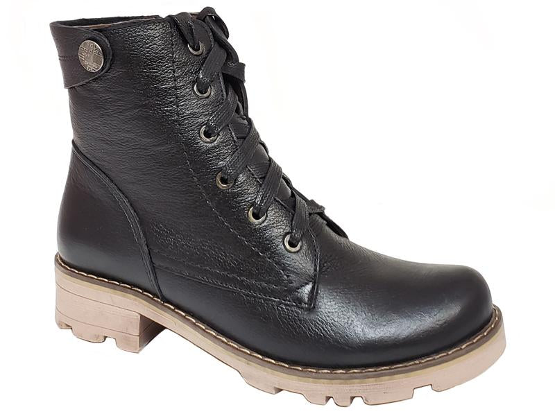 Berlin Plain Toe Lace Up Side Zip Ladies' Ankle Boots