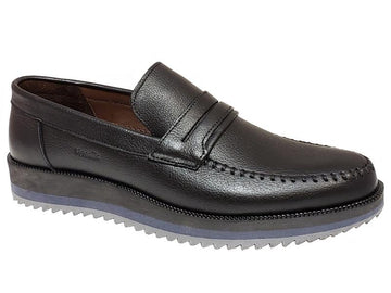 Stitched Toe Zigzag Sole Gentlemen's Penny Loafers