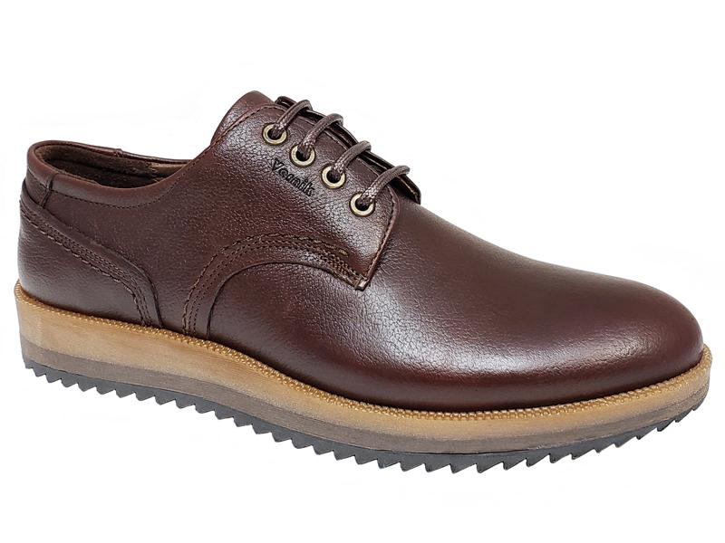 Plain Toe Zigzag Sole Gentlemen's Casual Derby