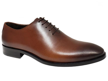Gando X Schicker One Piece Two-Toned Leather Handmade Gentlemen's Oxford