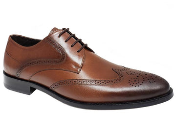 Gando X Schicker Wingtip Semi Brogue Handmade Gentlemen's Derby