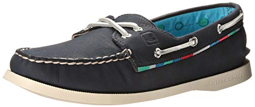 Sperry A/O Navy Satin Piping - Women