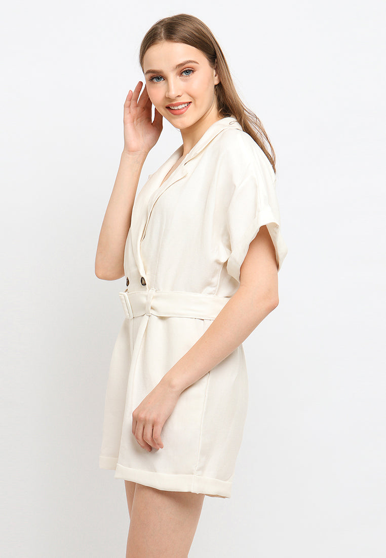 Rowenda Jumpsuit White