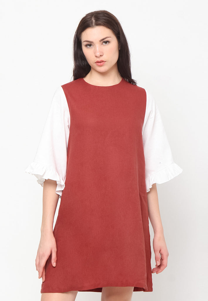 Adora Dress Terracota (1815764467757)