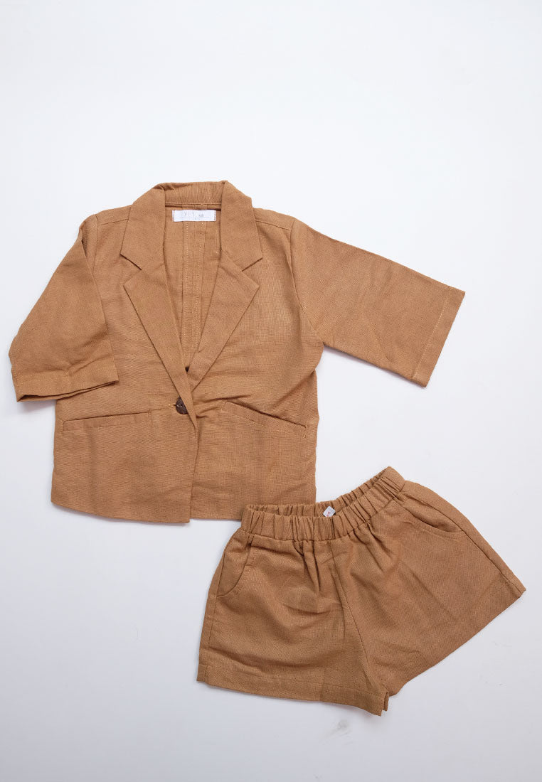 Arfi Set Blazer Brown