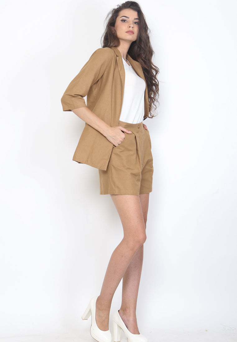 Ariel Set Blazer Brown