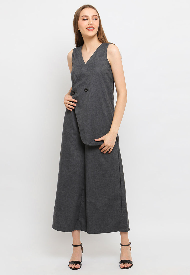 Aubriana Jumpsuit Grey