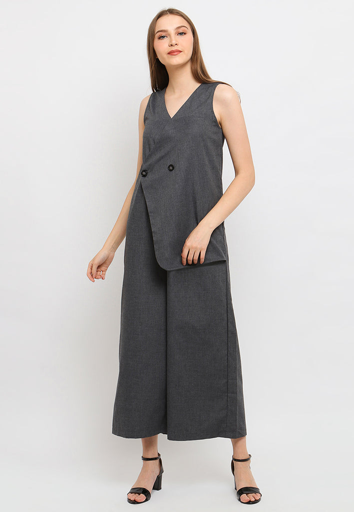 Aubriana Jumpsuit Grey (3959456497709)
