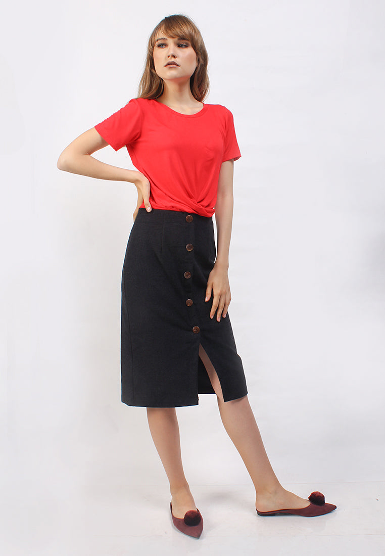 Beverly Skirt Black (1815753523245)