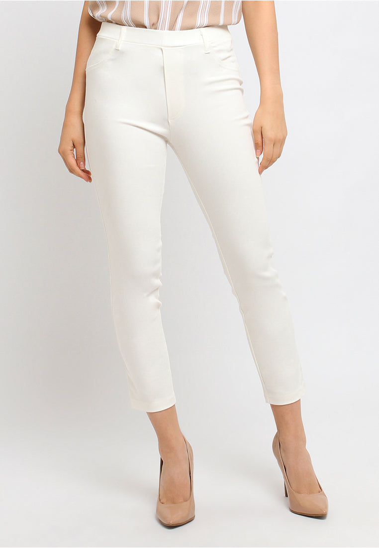 Catlana Jegging Pants White