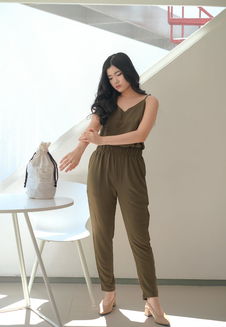 Ecel Set Olive + Scrunchy Est 7 Days