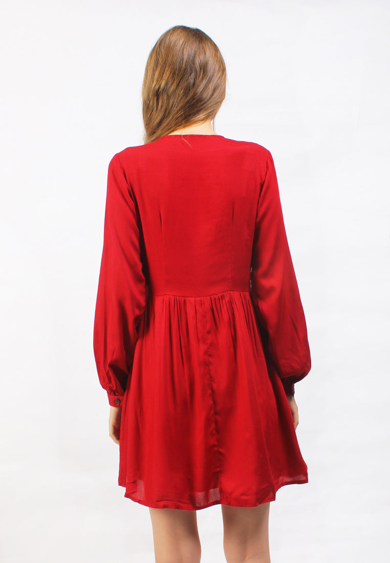 Emelyn Dress Red