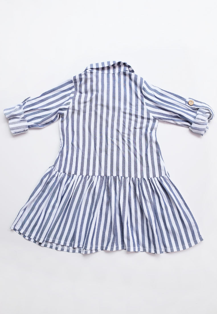 Jilly Dress Stripes Blue (1815633494061)
