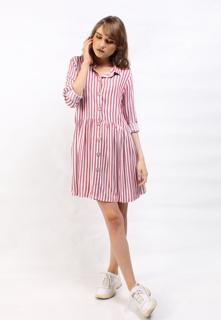 Jolly Dress Stripes Red
