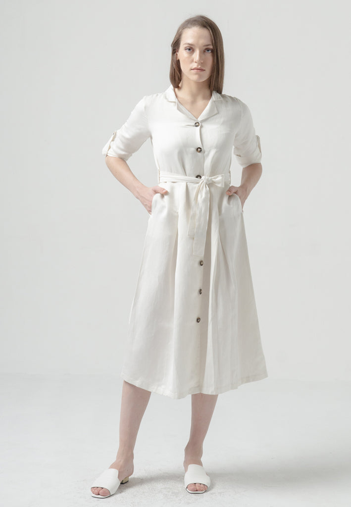 Leandra Dress Off White (1786203242541)