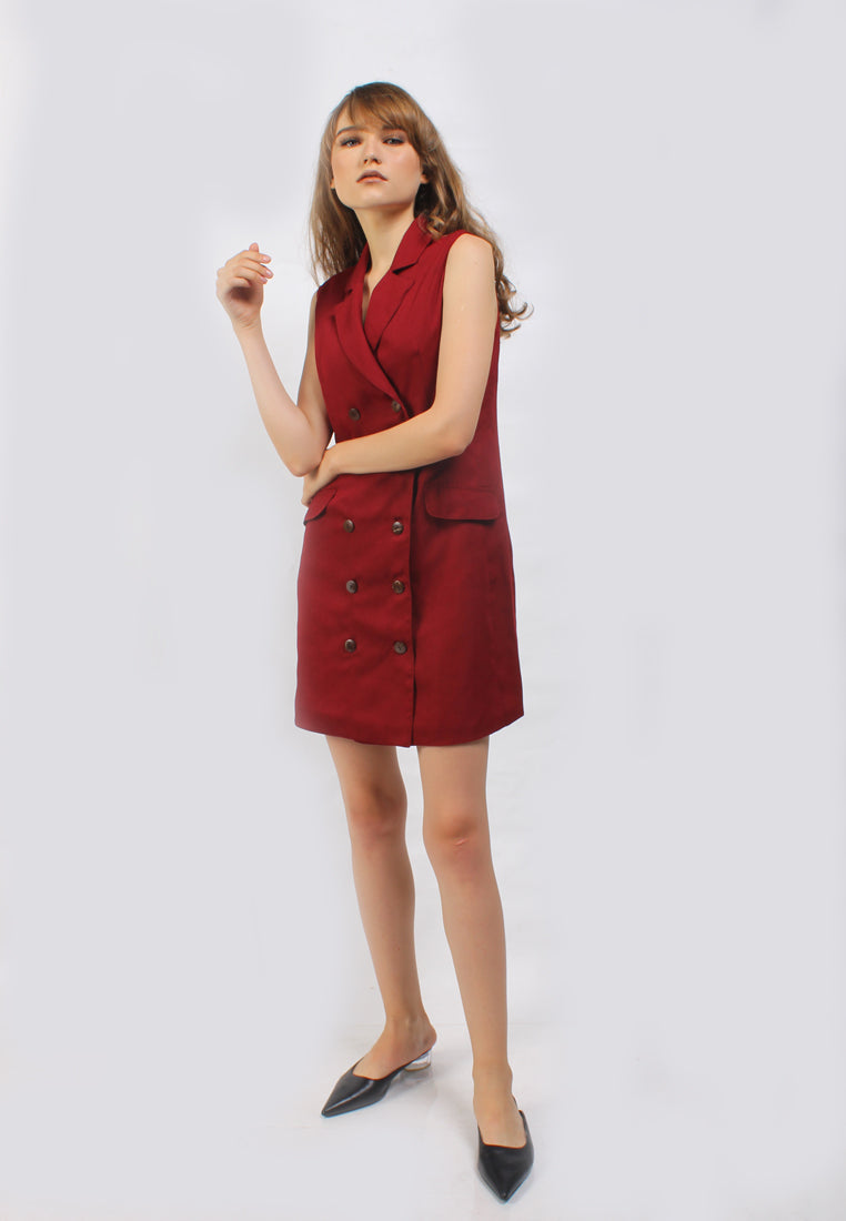Lugiana Dress Red