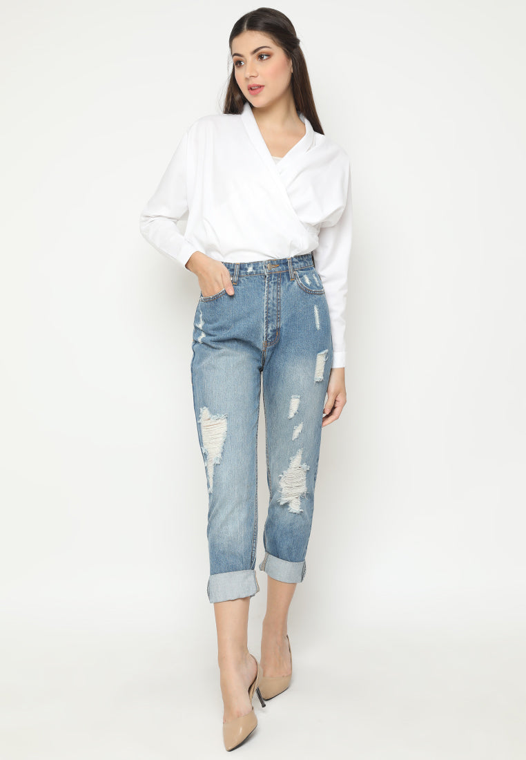 Marcella Denim Pants Blue
