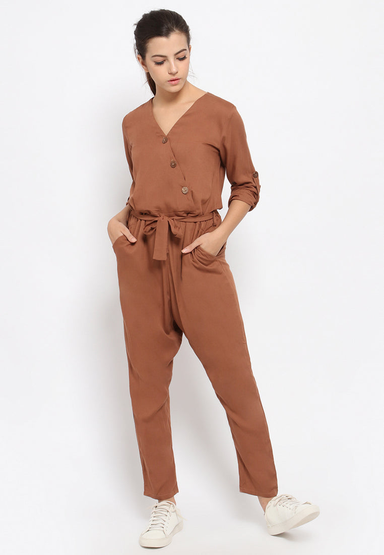 Nathania Jumpsuit Brown