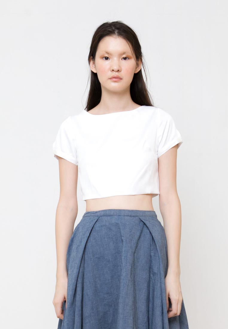 Qimee Top White