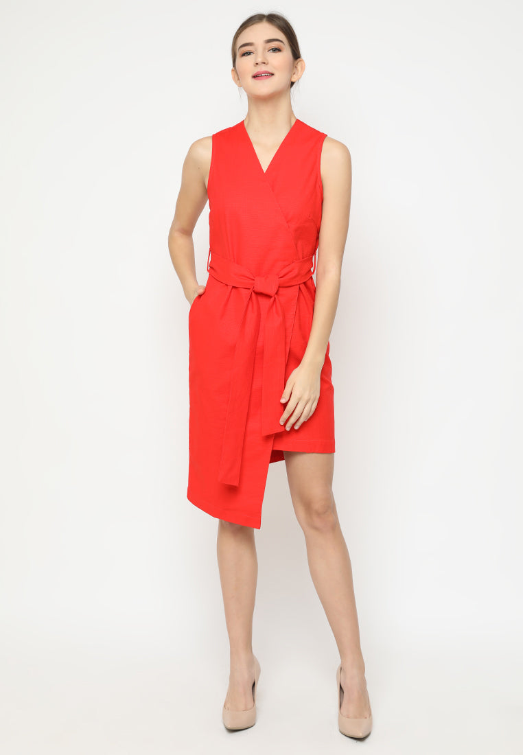Quinelle Dress Red