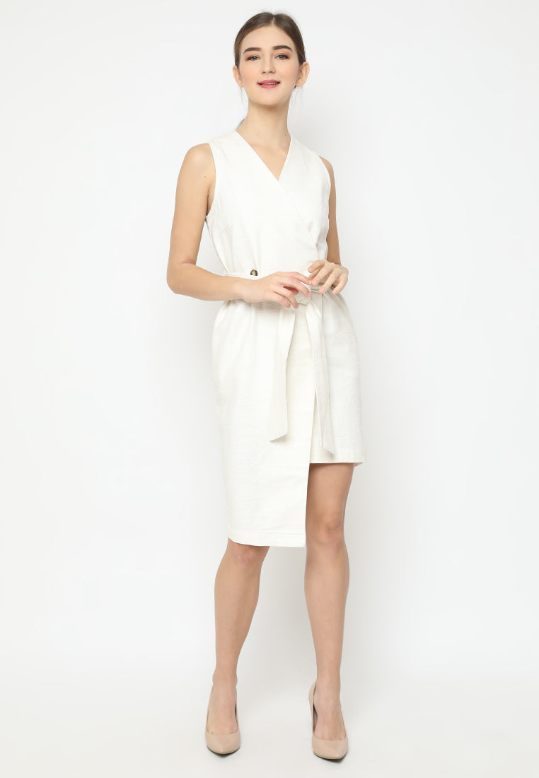 Quinelle Dress White