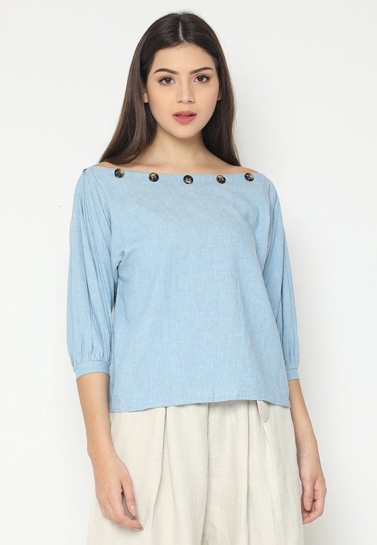 Raeka Top Blue