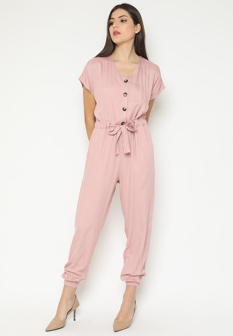 Velancia Jumpsuit Dusty Pink (3-6 Days) (4168553332781)