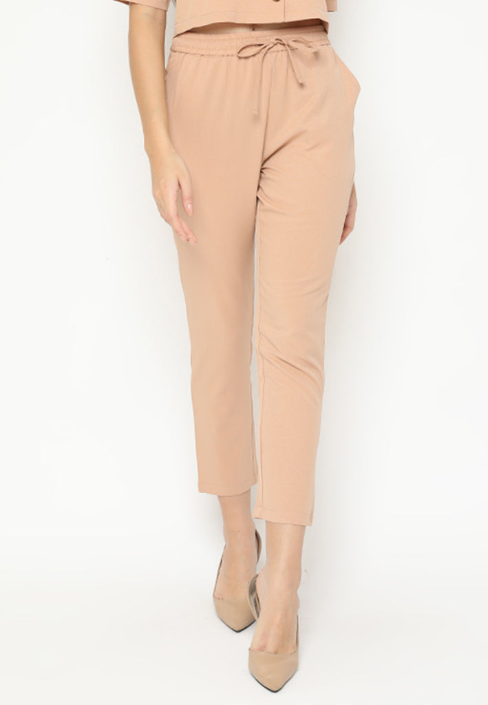 Vennita Pants Brown(3-6 Days) (4168541405229)
