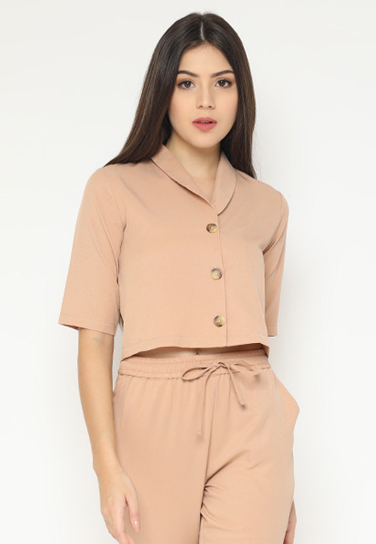 Viorie Top Brown (3-6 Days) (4168542453805)