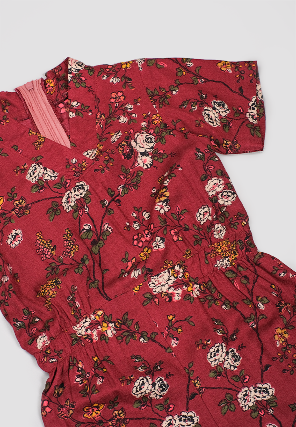 Xiao Jumpsuit Cheongsam Red