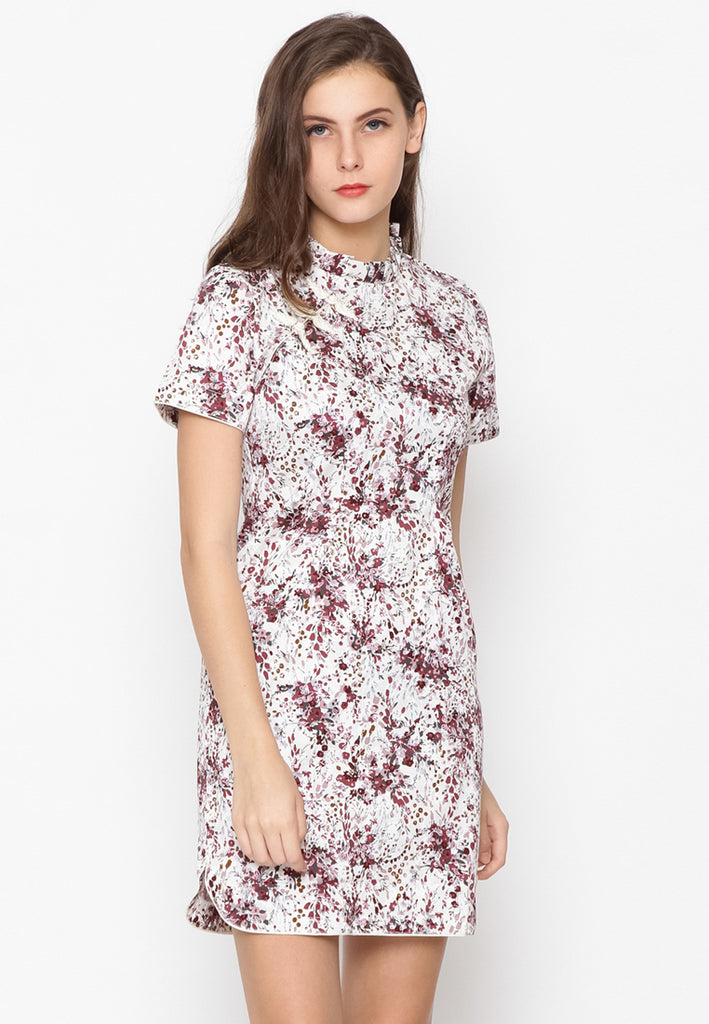 Zao Dress Cheongsam Maroon