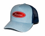 BLUE DENIM TRUCKER HAT