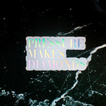 Holographic Pressure Makes Diamonds Sticker
