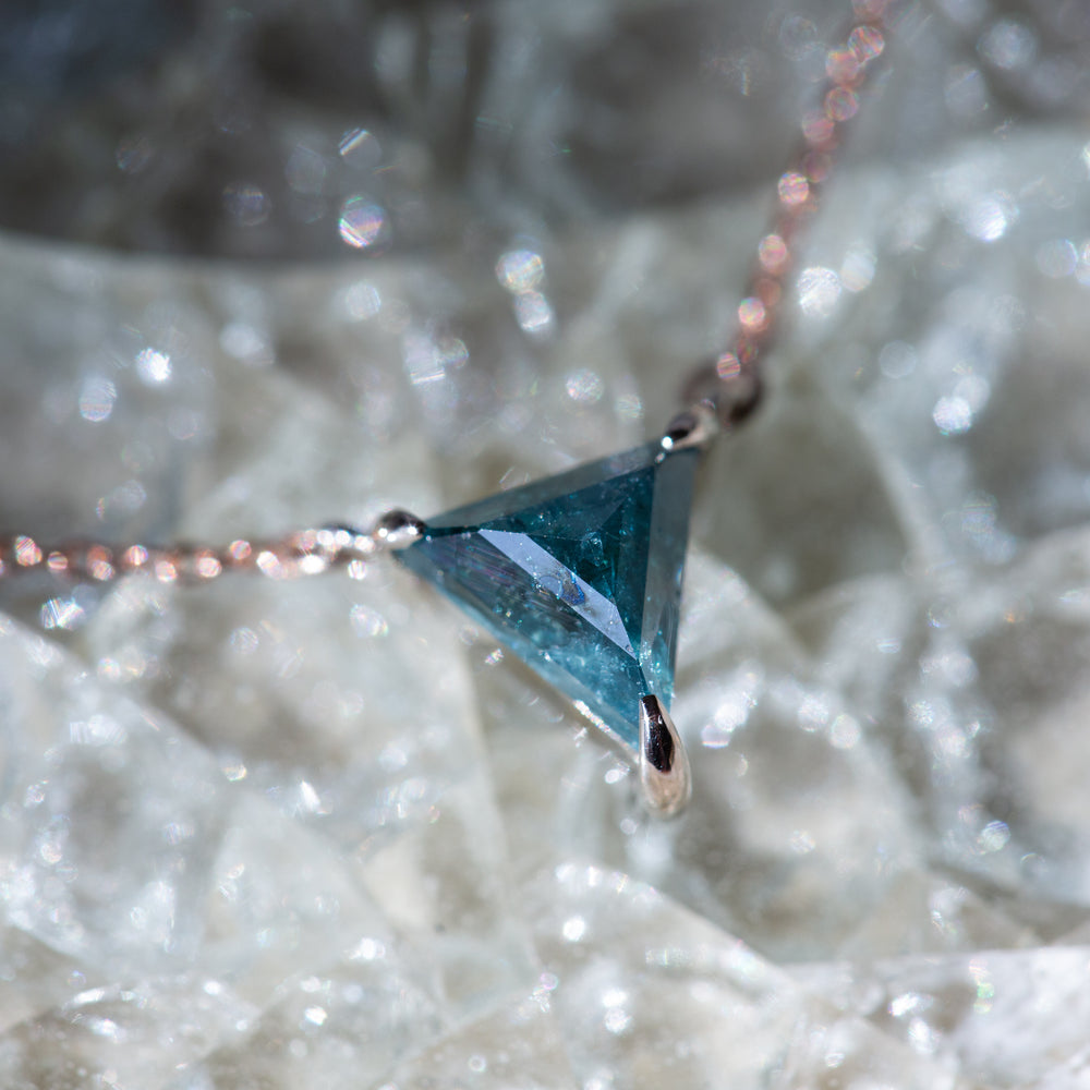 Blue Diamond Pendant (Triangle)