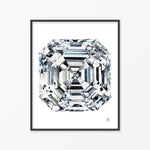 Asscher Diamond I Watercolor Print