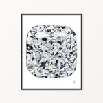 Cushion Diamond Watercolor Print