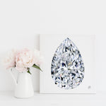 Pear Diamond Canvas Print
