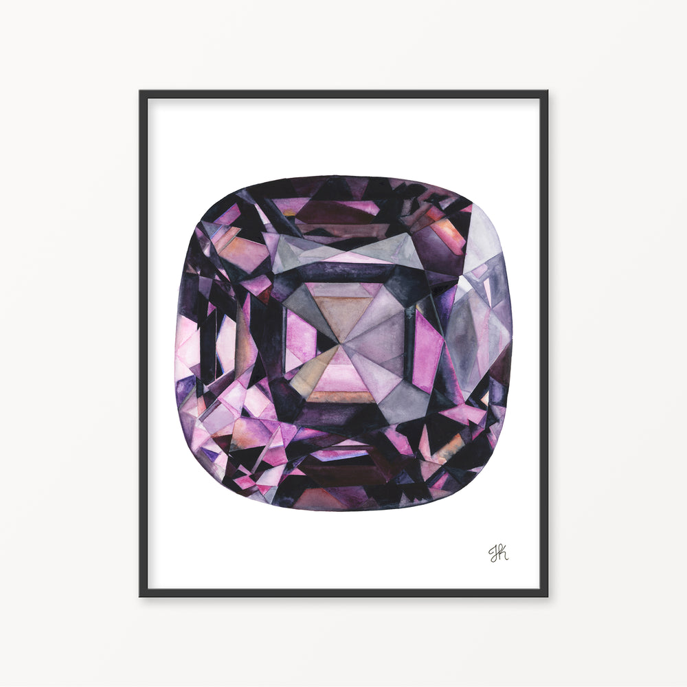 Purple Spinel Watercolor Print