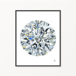 Round Diamond I Watercolor Print