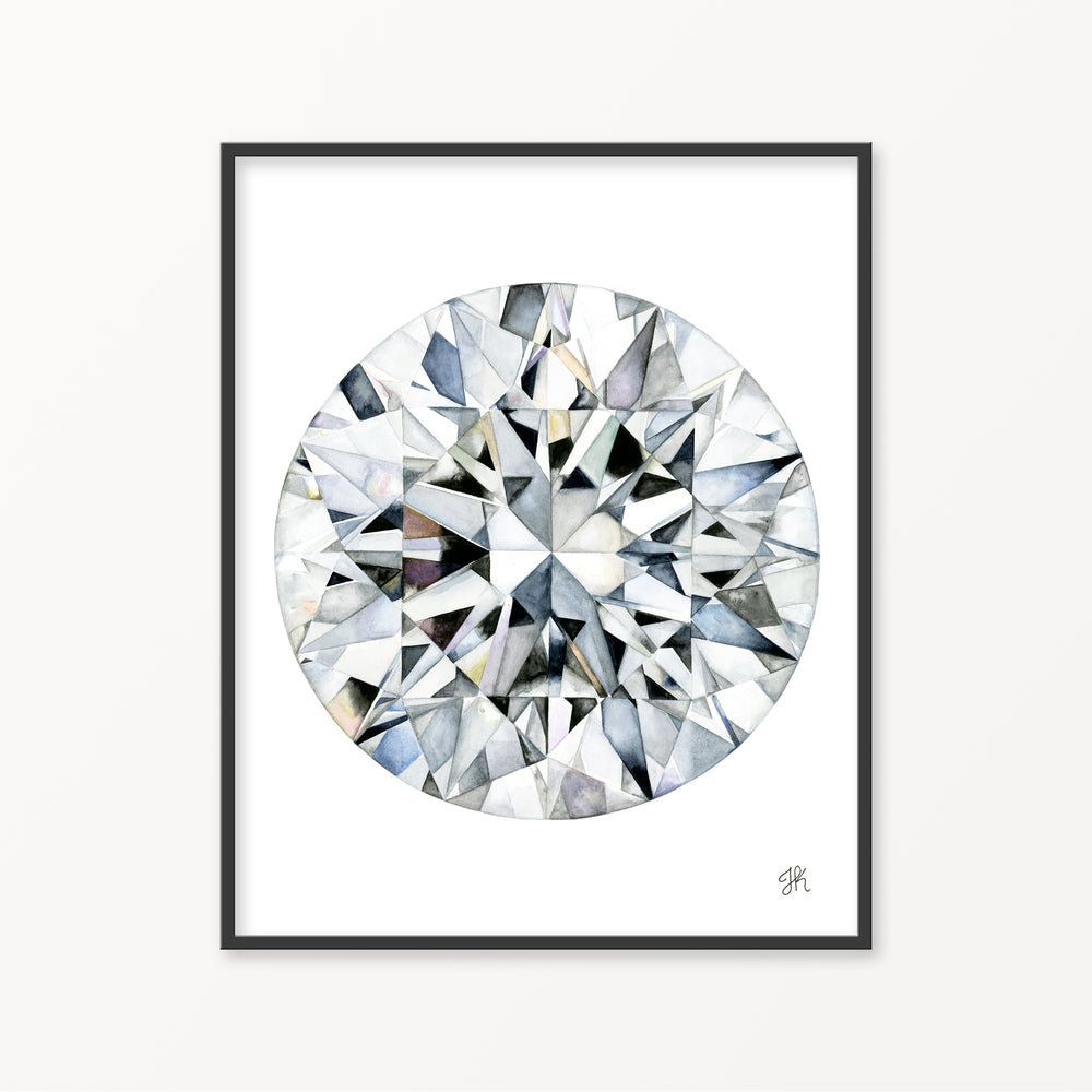 Round Diamond II Watercolor Print