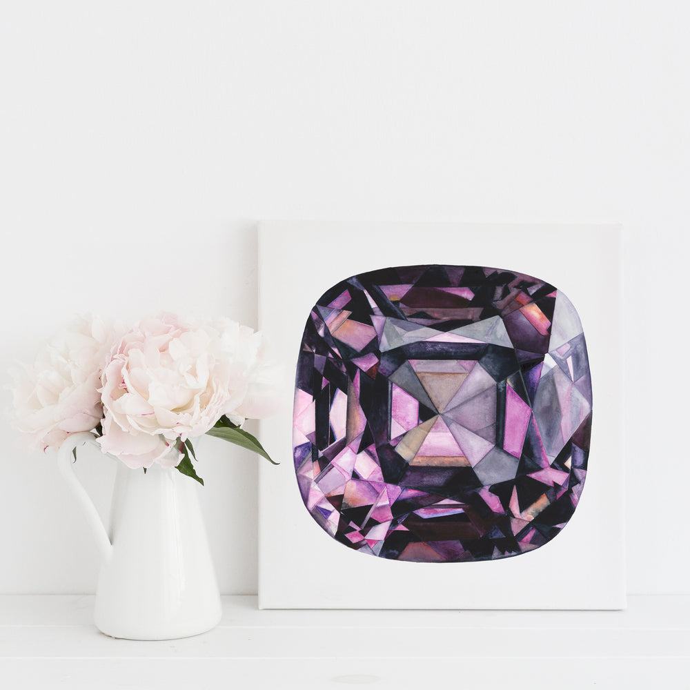 Purple Spinel Canvas Print