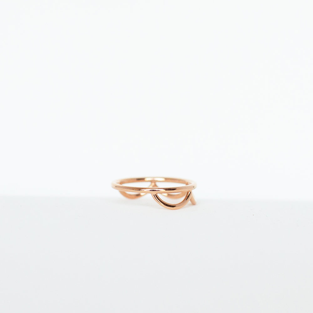 The Adrienne Band Solid (18k Rose Gold + Size 7.5)
