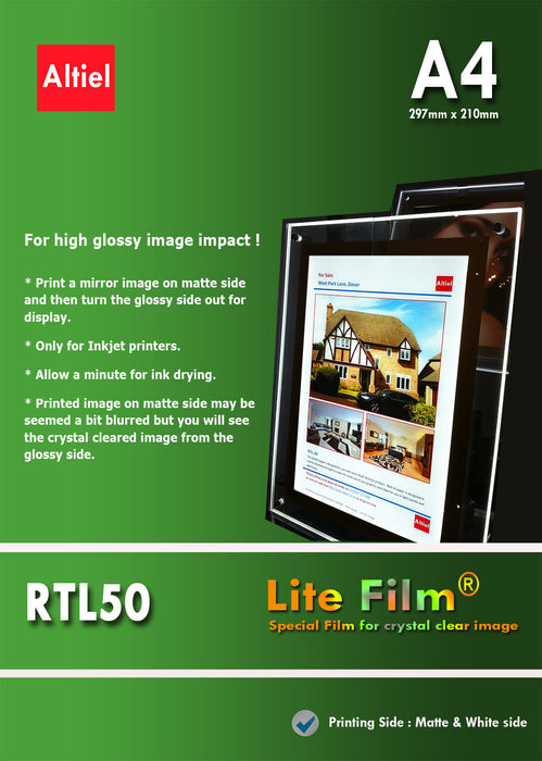 RTL50 (A4) <br> Lite Film® Crystal for LED Light Panels