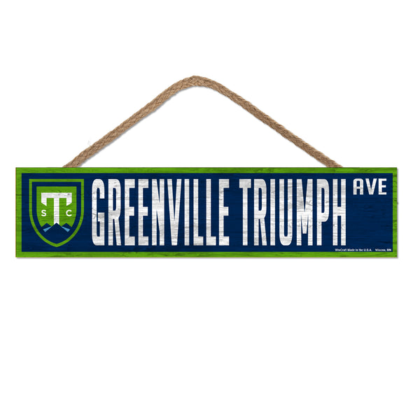 Triumph 4x17 Wood Sign with Rope