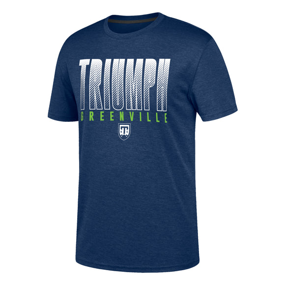Chrome Polyester 'Dashed Triumph' Navy Tee-Shirt