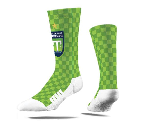 Strideline - GTSC Green Checkered Socks