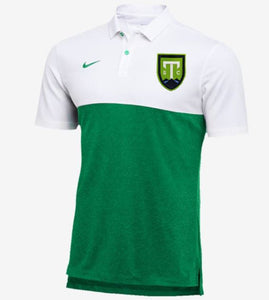 Nike Dry White/Green Colorblock Polo